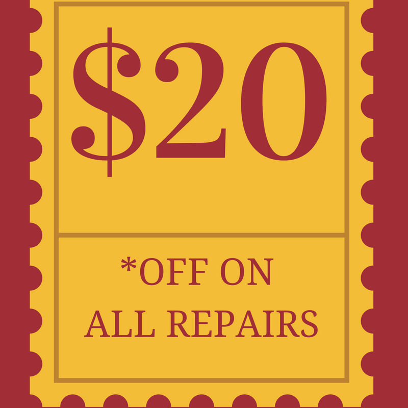 $20 off on all repairs for holidays 2016